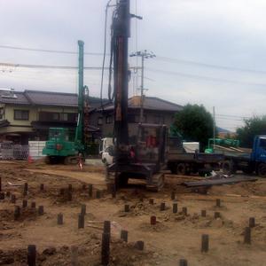 鋼管杭工法の手順