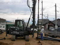 鋼管杭改良の施行の様子2