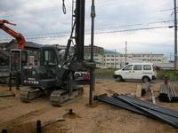 鋼管杭改良の施行の様子3