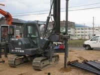 鋼管杭改良の施行の様子4