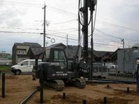 鋼管杭改良の施行の様子5